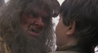 Winston the Ogre (Peter Vaughan) isn't keen on Kevin's chiropractic advice.