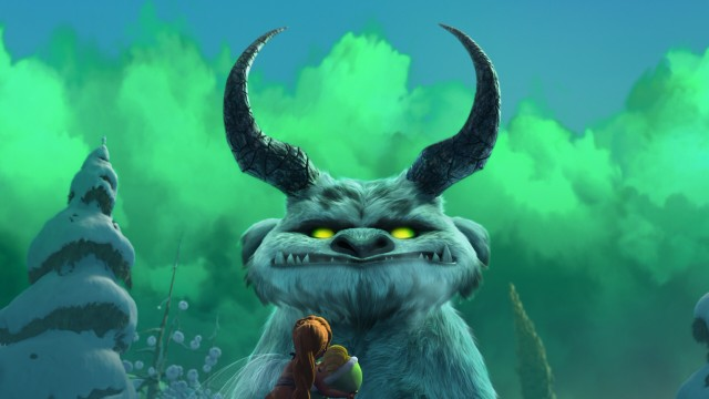 Gruff's friendly status is easy to question after he sprouts devilish horns and sports glowing green eyes.