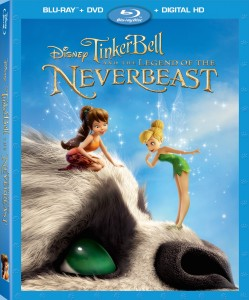 Tinker Bell and the Legend of the NeverBeast Blu-ray + DVD + Digital HD combo pack cover art -- click to buy from Amazon.com