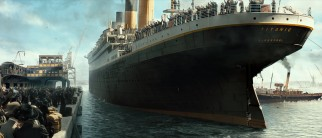 The glorious RMS Titanic leaves an English station for its fateful trip to America.