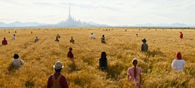 "Great minds from all walks of life come together in the vibrant, optimistic final shot of ""Tomorrowland."""