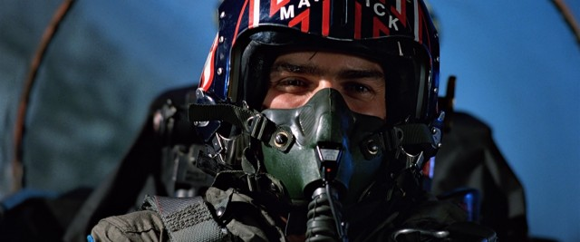 Much of the movie gives us views of masked, helmeted actors like Tom Cruise in genuine flight.