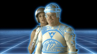Tron Guy enters the Tron World in his Web Redemption segment.
