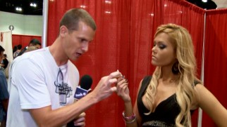At Los Angeles' AdultCon, Daniel Tosh tries to get the invented fetish of Q-tipping to catch on with porn stars.