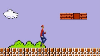 "Because he can, Daniel Tosh becomes Mario for a run-through of the first level of ""Super Mario Bros."""