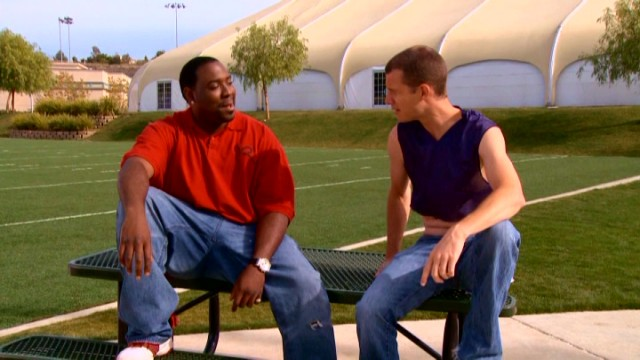 A football player who tackled his own teammate grant an interview for one of Tosh.0's Web Redemption segments.