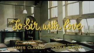 "The theatrical trailer for ""To Sir, with Love"" writes the film's title in cursive."