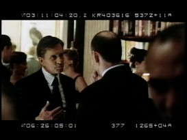 "A single day of hasty improvisation between Michael Douglas and real politicians and lobbyists yields over 90 minutes of bonus material via three camera angles of ""Additional Footage."""