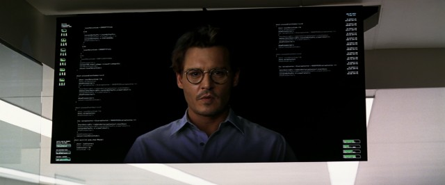 "In ""Transcendence"", Dr. Will Caster (Johnny Depp) lives on after death in virtual form."