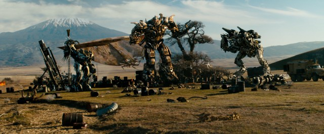 The bad Decepticons do their thing out in the mountains, I guess.