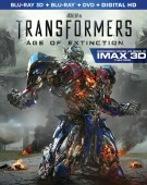 Transformers: Age of Extinction Blu-ray 3D + Blu-ray + DVD + Digital Copy combo pack cover art - click to buy from Amazon.com
