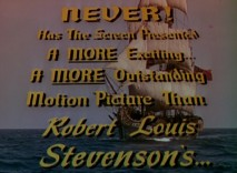 "As was the norm in the 1950s, the trailer for Disney's ""Treasure Island"" shows no restraint in raising audience expectations."
