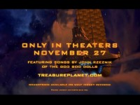 The Treasure Planet theatrical trailer promotes the involvement of John Rzeznik of the Goo Goo Dolls.