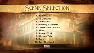 The Scene Selection menus aren't as descriptive or illustrated.