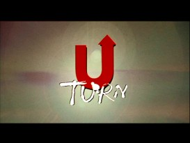 "The title logo for ""U Turn"" (no hyphen) appears at the end of its original 1997 theatrical trailer."