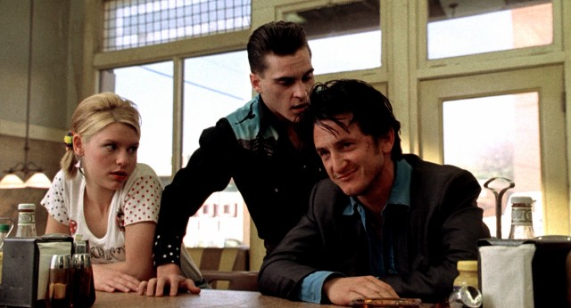 Bobby (Sean Penn) can only laugh in response to the ditzy Jenny (Claire Danes) and her explosive boyfriend Toby N. Tucker (Joaquin Phoenix).