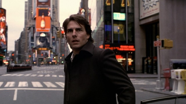 """Vanilla Sky"" opens with David Aames (Tom Cruise) finding Times Square unsettlingly void of people."