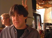 "A crew member gives writer-director Cameron Crowe bunny ears on the set in ""Prelude to a Dream."""