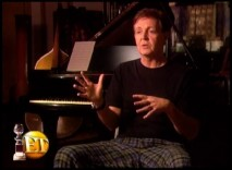 "Sir Paul McCartney wears his finest pajamas in this short ""Entertainment Tonight"" interview."