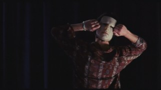 Tom Cruise makes sure his mask works both ways in this mask test.