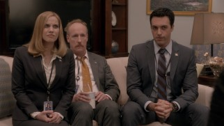 Three of the VP's closest staffers (Anna Chlumsky, Matt Walsh, and Reid Scott) fear for their jobs.