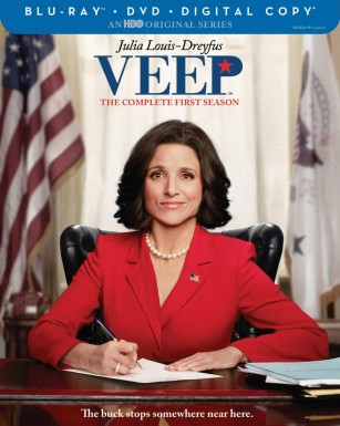Veep: The Complete First Season Blu-ray + DVD + Digital Copy combo pack box cover art -- click to buy from Amazon.com
