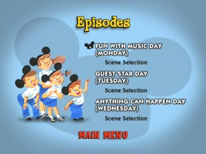 The Episode menu on Disc 1.