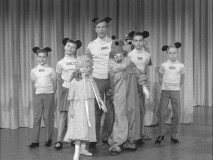 The Mouseketeers sing about shoes.