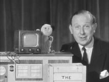 Sooty and his friend Harry Corbett have some misadventures setting up a TV from Mickey.