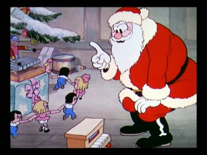 "Santa Claus appears in two Christmas-set Silly Symphony shorts (including ""The Night Before Christmas"", seen here) and the character's design is employed even more."