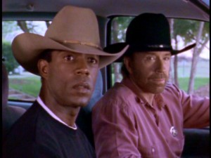 With cowboy hats atop their heads, Jimmy Trivette (Clarence Gilyard) and Cordell Walker (Chuck Norris) keep Dallas safe from remarkable levels of crime.