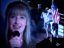 Teenaged country singer Lila McCann plays an aspiring singer who inexplicably shares the screen with a patriotic cowgirl in a musical performance.