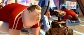 Aboard the Axiom, WALL-E quickly makes a friend in John (voiced by John Ratzenberger).