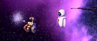 And the award for 2008's cutest screen couple goes to... WALL-E and EVE. WALL-E and EVE couldn't be here tonight; they're busy enjoying outer space with a fire extinguisher.