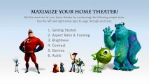 Gathering characters from five different Pixar universes, the Maximize Your Home Theater asks to be checked out even if you don't intend to recalibrate.