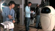 """The Imperfect Lens"" shows the filmmakers conducting live-action camera tests with life-size models of EVE and WALL-E."