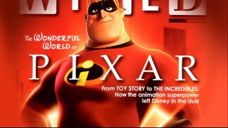 Mr. Incredible smiles from a featured Wired magazine cover that's sure to frustrate the few who prefer Disney's present-day output to Pixar's.
