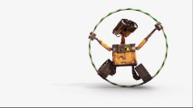 "WALL-E enjoys a Hula Hoop in his ""Treasures & Trinkets"" short."