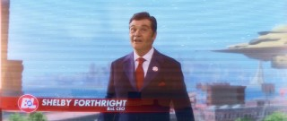 As living-through-video Buy n Large CEO Shelby Forthright, Fred Willard claims the most prominent of Pixar's first live-action parts.