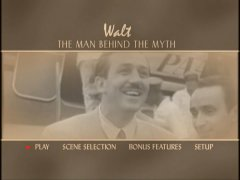 Walt: The Man Behind the Myth DVD Main Menu