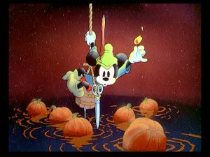 "Taken in with a handful of pumpkins, Mickey the ""Brave Little Tailor"" has to fight off unsightly artifacts in addition to getting eaten by a giant."