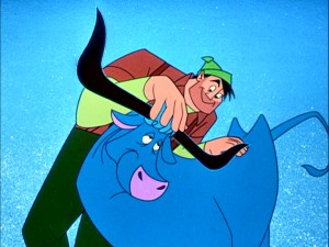 Paul Bunyan finds a best friend in Babe the giant blue ox. Together, they'll make mountains.