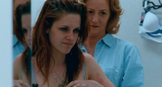 "Lois (Melissa Leo) has her maternal side resurface by helping ""Mallory"" (Kristen Stewart) try on a bra...every teenaged girl's favorite mother-daughter activity."