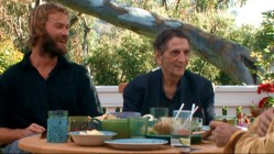 "Bearded Andrew Wilson and nihilistic Harry Dean Stanton join Luke Wilson and Seymour Cassel for the interesting chat titled ""Afternoon at Luke's."""