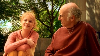 Melodie (Evan Rachel Wood) talks death and sex with Boris (Larry David) on the steps outside Grant's Tomb.