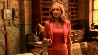 Melodie's mother Marietta (Patricia Clarkson) is about to pass out at the sight of a son-in-law older than herself.
