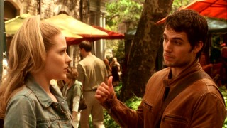 "English stage actor Randy Lee James (Henry Cavill) happens to run into Melodie (Evan Rachel Wood) at a Manhattan flea market. And by ""happens"", I mean ""plans."""