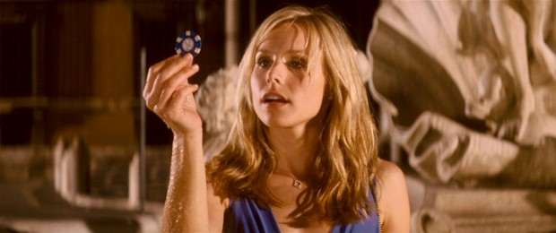 A poker chip is the last of five wishing items a drunk, disenchanted Beth Martin (Kristen Bell) pulls out of Rome's Fontana d'Amore. Comic consequences, here we come!