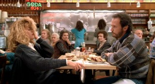 The most discussed and excerpted scene of the movie has Sally loudly faking an orgasm in a well-populated diner.