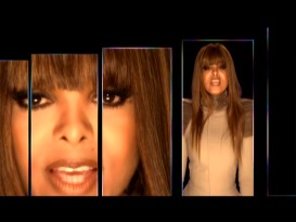 "Getting chopped up into rectangles is the theme of Janet Jackson's ""Nothing"" music video."
